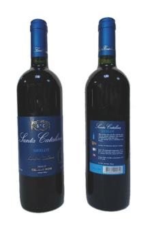 Chilean Red wine Vinas Santa Catalina Chile wines Merlot