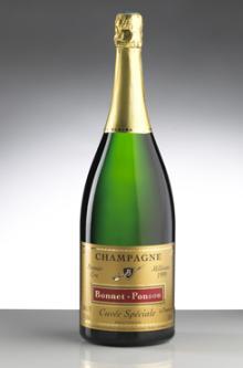 """Champagne """"Blanc de Blancs"""" Magnum (Double-Bottle : 1,5 L)"""