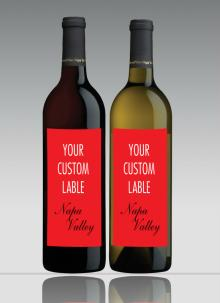 California Red  Wine - Custom ized label Italian designer Private label/ supply/ export/ California Napa