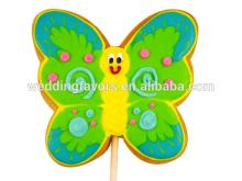 Green  Butterfly  Decor ated Sugar Cookie Favor