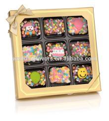 Birthday Mini Chocolate Dipped Rice Krispies