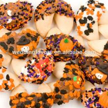Halloween Dipped & Decorated Gourmet Fortune Cookie Favors