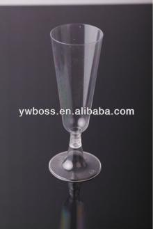 ps siver coated and clear disposable cheap plastic champagne flutes