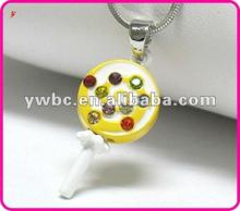 wholesale enamel with crystal lollipop kids necklace (A108965)