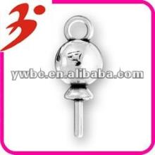 newest alloy plating antisilver lollipop charm accessory jewelry(185204)