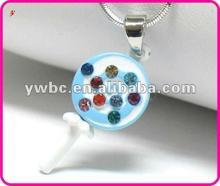 Cute diamond alloy lollipop necklace(A108768)