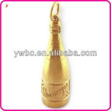 High quality Champagne Bottle pendant charm jewelry