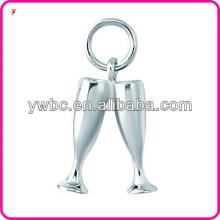 Top quality champagne glasses zinc alloy pendant charm jewelry