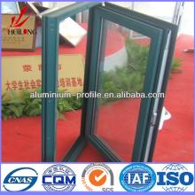 anodized finish Champagne Wood Hot sale aluminum extrusion profile door