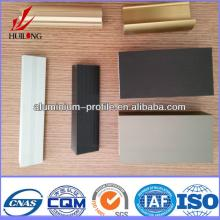 anodized finish Champagne Wood Hot sale aluminum door extrusions
