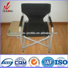 anodized finish Champagne Wood Hot sale outdoor aluminum dining chair