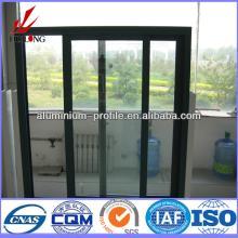 anodized finish Champagne Wood Hot sale aluminum vertical sliding window