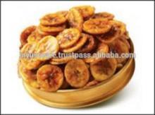 Crispy salted Indian ripe-banana chips