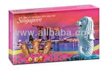 Singapore Merlion Hazel Nut Milk Chocolate