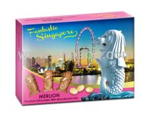 Fantastic Singapore Merlion Macadamia Nut Milk Chocolate