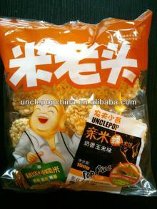 HALAL snack uncle pop 150g cream corn flavor mini rice crackers