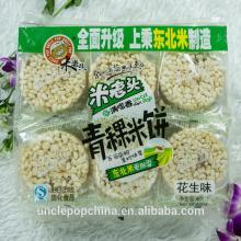 400g peanut flavor rice cakes with highland barley