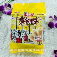 uncle pop snack yolk flavor Korean grain crispy rolls