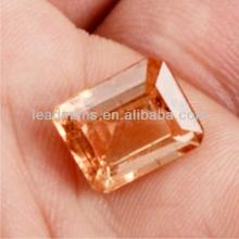 champagne brilliant Octogon cubic zirconia CZ synthetic gemstones loose beads for jewelry making Lea