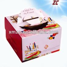 Latest lovely Take Away Food Packaging Paper Cake Box with Handle