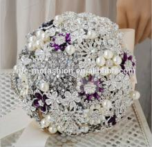 champagne pearl wedding flowers