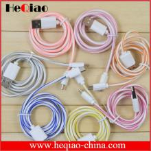 Lollipop cable Phone charger usb to micro usb cable colorful cable for phone charger and data transf