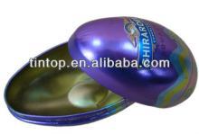 Egg shape of tin box for christmas gift/chocolate/candy