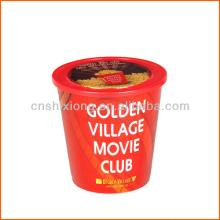hot plastic popcorn cup with lid