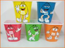 Hot sell square plastic popcorn cup