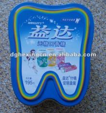 tooth shape tins for chewing gum