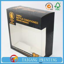FSC Ivory paper folding box with spot UV varnish for wine brand