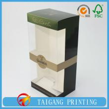luxury paper card wine box & custom paper wine box with windows patched