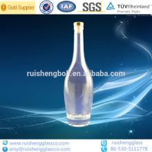 Customized high quality clear vodka glass bottles