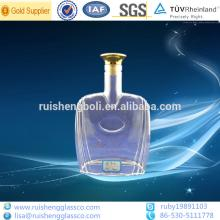 Wholesale high quality crystal white vodka glass bottle