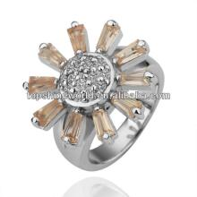 champagne flower wedding ring