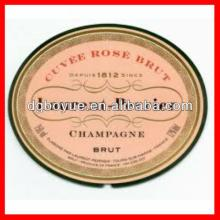 Custom Round Champagne Labels with High Quality