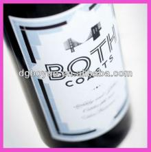 High quality custom personalized label stickers,adhesive logo labels stickers,champagne labels