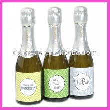 High quality custom personalized label,adhesive logo stickers,custom champagne labels