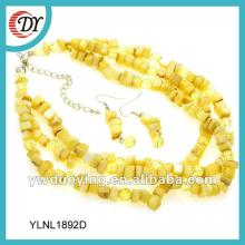 2014 cheap fashion yellow corn shape shell necklace
