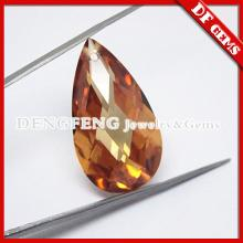 Champagne Pear shaped large CZ cubic zirconia loose gemstone