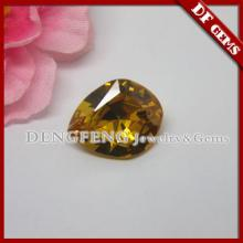 fancy cut shaped champagne crystal colored zirconia