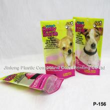 stand up dog food packaging bag with zipper