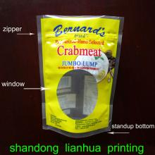 plastic   zipper   bag  stand up with window food grade or other field