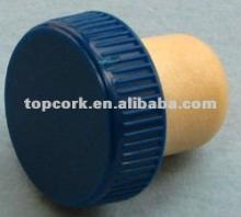 Plastic cap synthetic cork wine bottle stopper TBP18.2-28.5-18.4-10blue