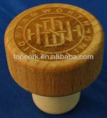 Wooden cap synthetic cork bottle stopper TBW22.3-32.9-21.7-14.3-12.4g