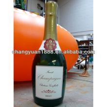 Advertising custom  cheap  inflatable champagne bottle for promotional