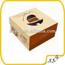 luxury  paper   board  cake packaging box with window and diecut handle