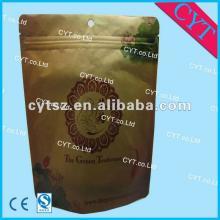 zipper top tea bag/stand up puoch