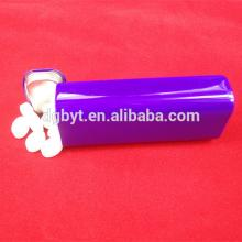 Metal tin filled with tablet mints candy