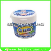 Plastic chewing gum gift bottle with mint candy